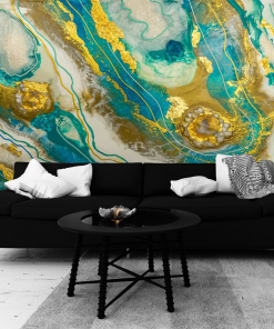 abstract wall mural for the living room