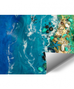 Wall mural painting composition resin sea