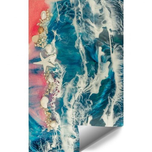 Wall mural resin sea - a painting composition