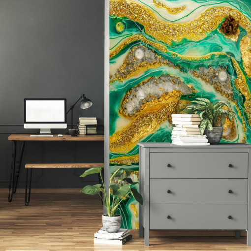Wall decoration with resin art - wall mural