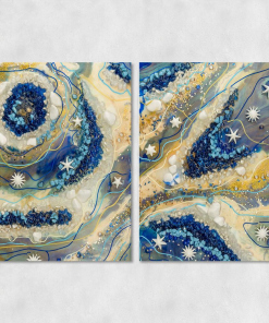 two-part painting - resin painting reproduction