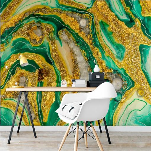 Geode art decoration - wall mural