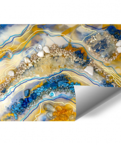 mural with abstract resin art