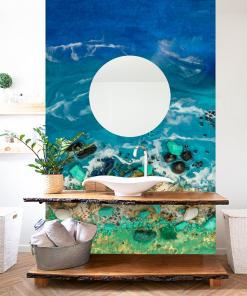 Sea resin theme wall mural