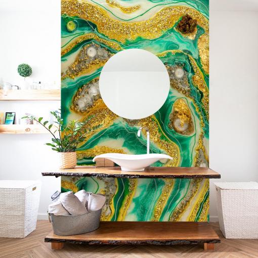 Wall mural in the bathroom