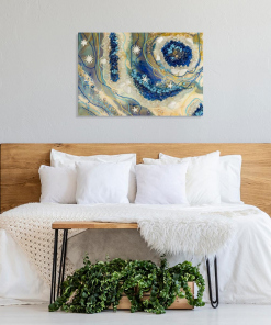 decorating bedroom with resin abstraction
