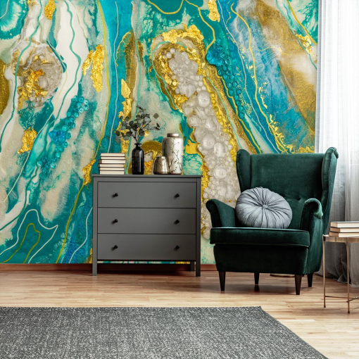 mural with an abstract motif for the room