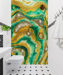 Resin wall - abstract decoration for bathrooms
