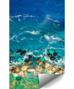 Wall mural resin sea blue