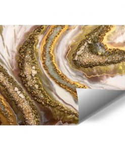 Photo wallpaper with cream abstraction