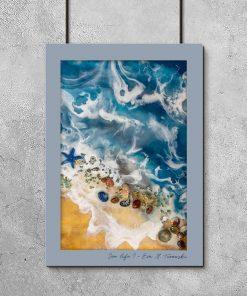 Resin art poster - Sea theme