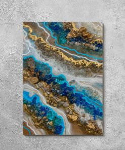 Picture showing resin painting with stones