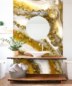 Wall Mural - Resin decorations with crystals
