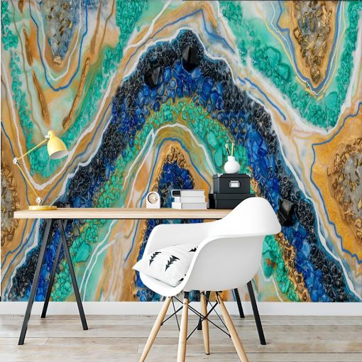 Photo wallpaper - Resin art with stones