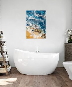 Picture of resin sea with beach and seashells