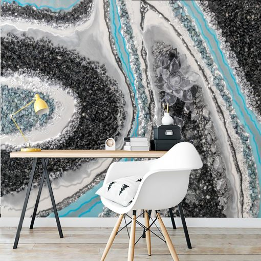 Wall mural geode art - Glass flower