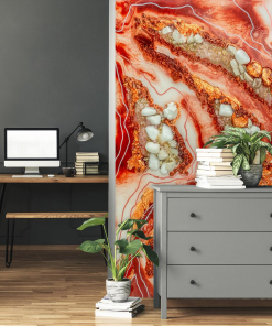 wall mural resin art abstract stones