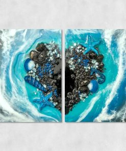 Diptych - Sea and heart