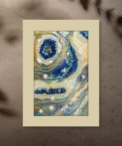 Poster - Abstraction with blue stones