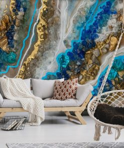 A mural with abstraction recommended for the living room