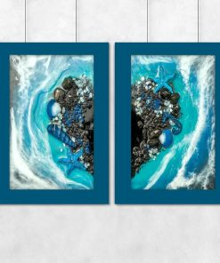 Diptych poster with heart