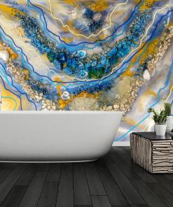 wall mural abstract geode art art resin