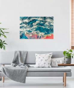 picture with a sea theme resin art