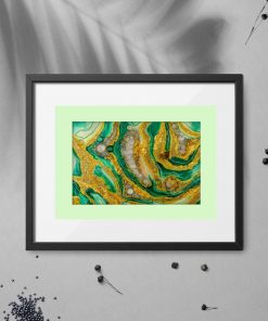 Abstract yellow-green poster