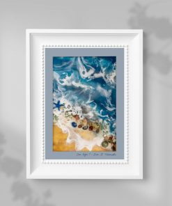 A poster with a resin painting theme