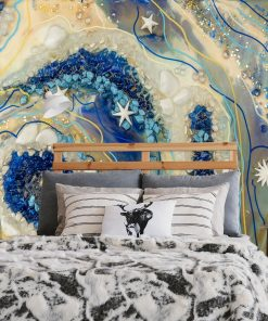 Wall mural with abstraction and stars