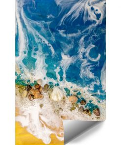 Resin sea wall mural with a sea theme