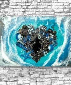 Painting - Sea and heart