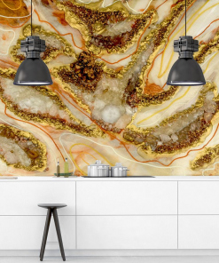 wall mural for the kitchen resin art abstraction with stones