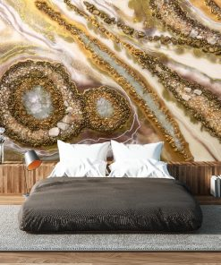 Wall Mural - Golden abstraction for the bedroom