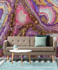 Wall Mural - Abstract crystals for the living room