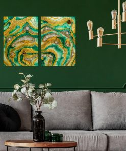 Inspiration for the living room - a two-piece painting with resin
