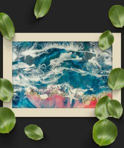 Horizontal poster - Pink beach and sea