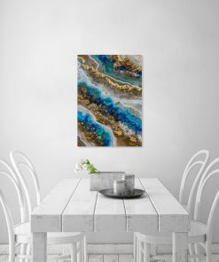 Geode art image with abstract crystals