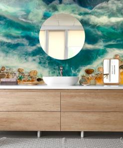 bathroom decoration sea mural