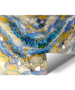 wall mural A reproduction of a painting with resin and abstraction