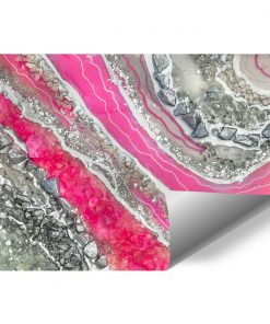 Photo wallpaper with abstraction in silver