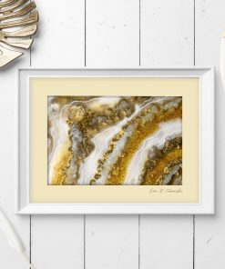 Abstract poster with crystals