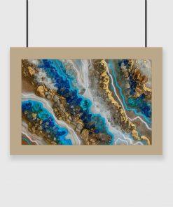 Blue resin art poster