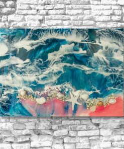 picture with resin sea theme