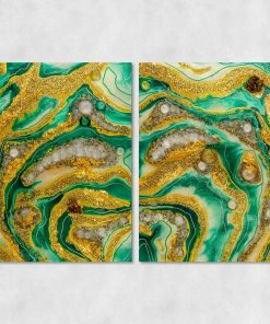 Diptych picture of a beautiful abstract theme with stones