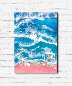 picture resin sea sea with shells
