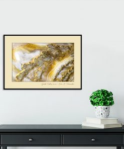 A poster with gold abstraction