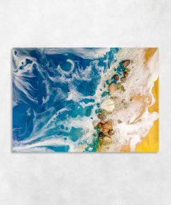Sea resin art painting