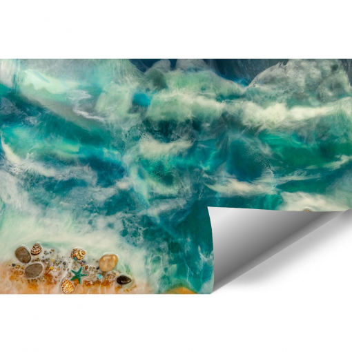 resin sea sea wall mural