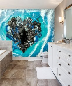 Wall Mural - Blue seashells